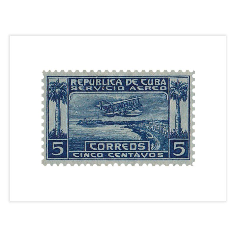 Cuba Vintage Stamp Art Home Fine Art Print by The Cuba Travel Store Artist Shop