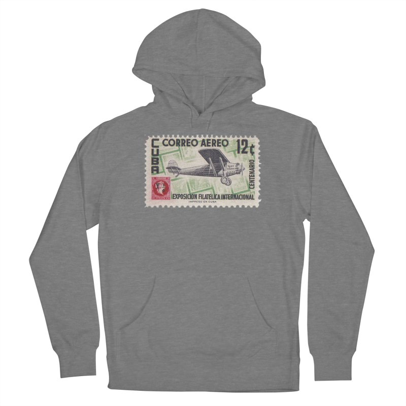 Cuba Vintage Stamp Art 1955 Women's Pullover Hoody by The Cuba Travel Store Artist Shop