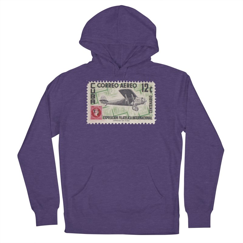 Cuba Vintage Stamp Art 1955 Men's Pullover Hoody by The Cuba Travel Store Artist Shop