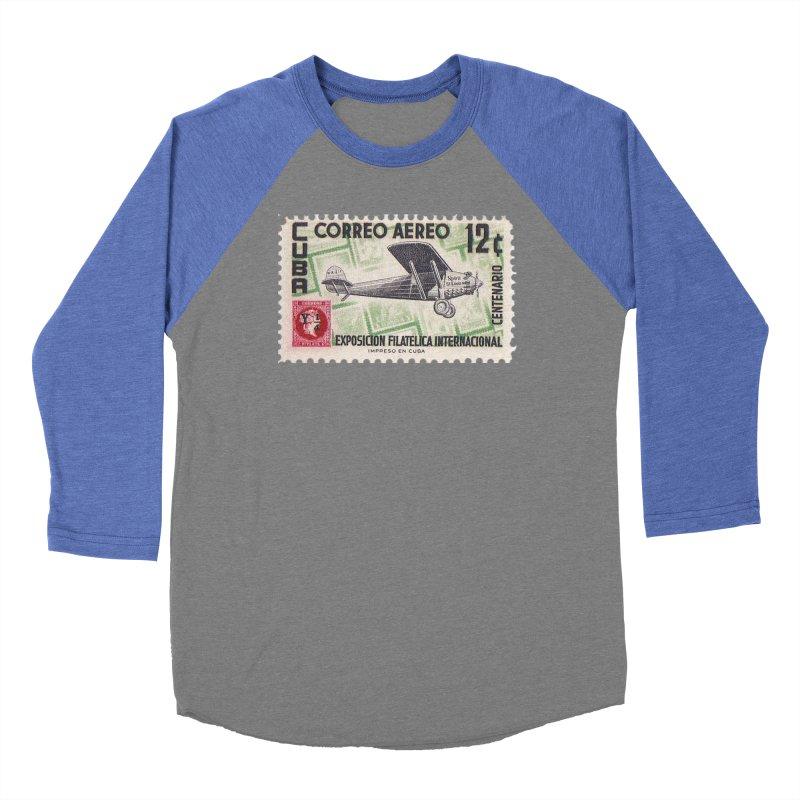 Cuba Vintage Stamp Art 1955 Women's Longsleeve T-Shirt by The Cuba Travel Store Artist Shop
