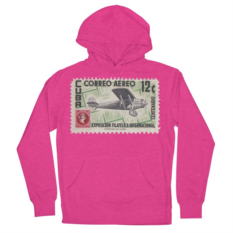 Cuba Vintage Stamp Art 1955 Women's French Terry Pullover Hoody by The Cuba Travel Store Artist Shop
