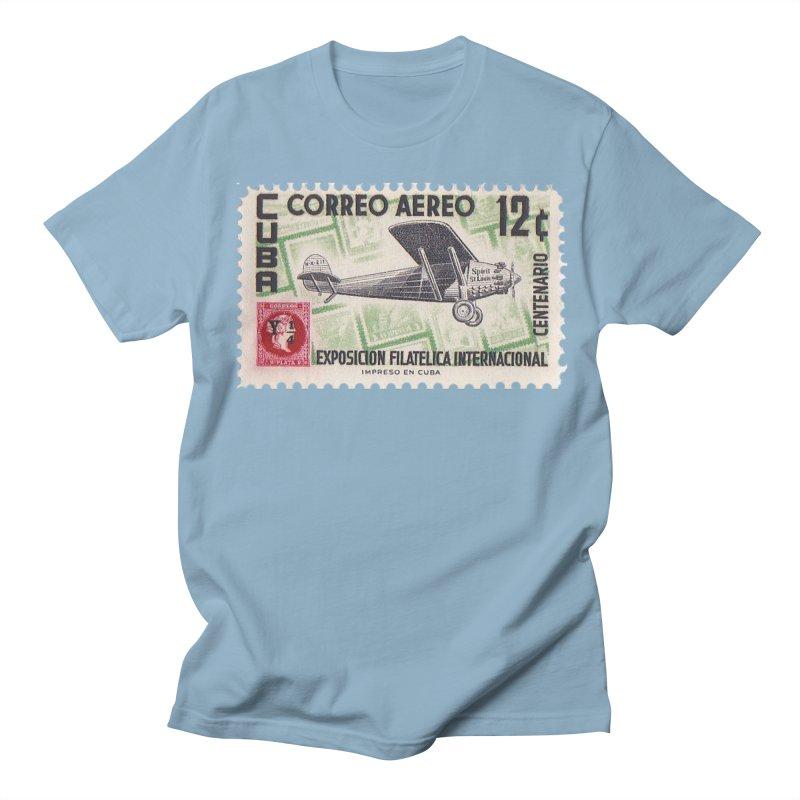 Cuba Vintage Stamp Art 1955 Men's Regular T-Shirt by The Cuba Travel Store Artist Shop