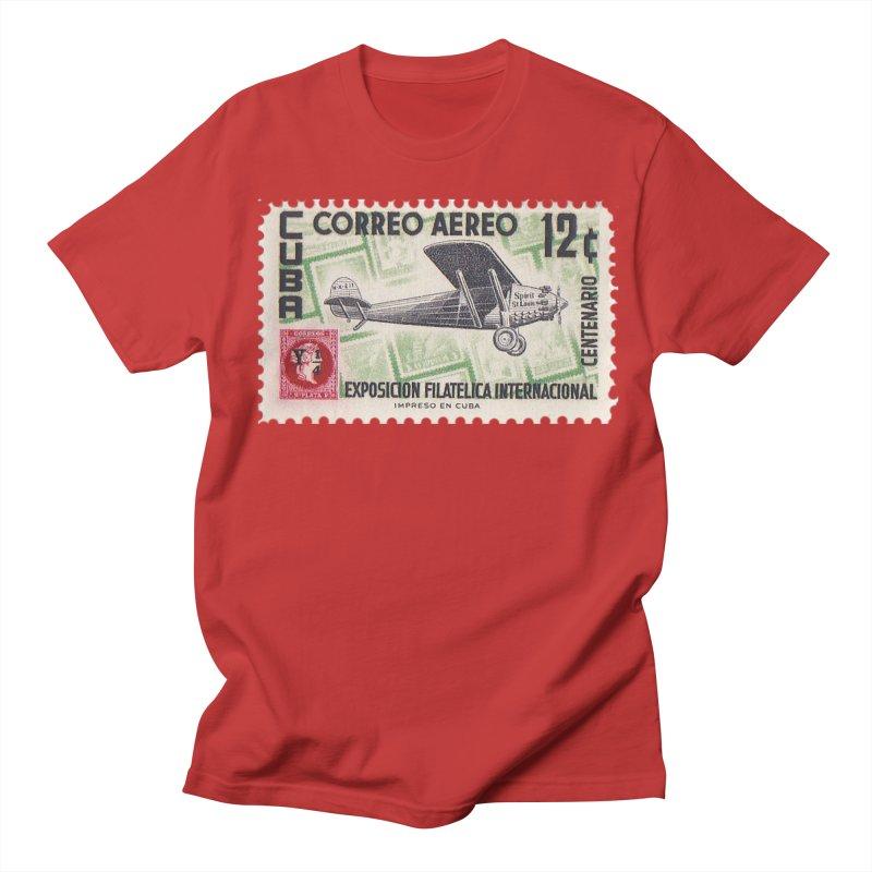 Cuba Vintage Stamp Art 1955 Men's T-Shirt by The Cuba Travel Store Artist Shop