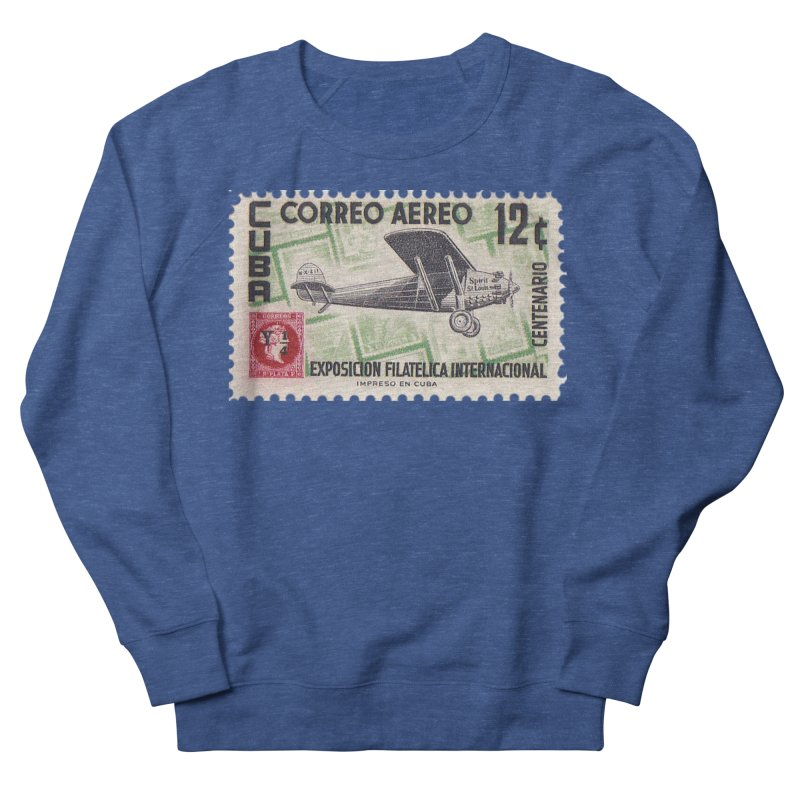 Cuba Vintage Stamp Art 1955 Men's Sweatshirt by The Cuba Travel Store Artist Shop