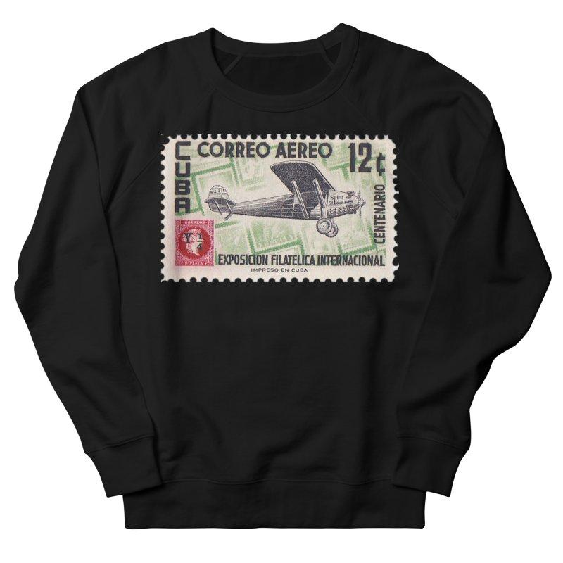Cuba Vintage Stamp Art 1955 Men's French Terry Sweatshirt by The Cuba Travel Store Artist Shop