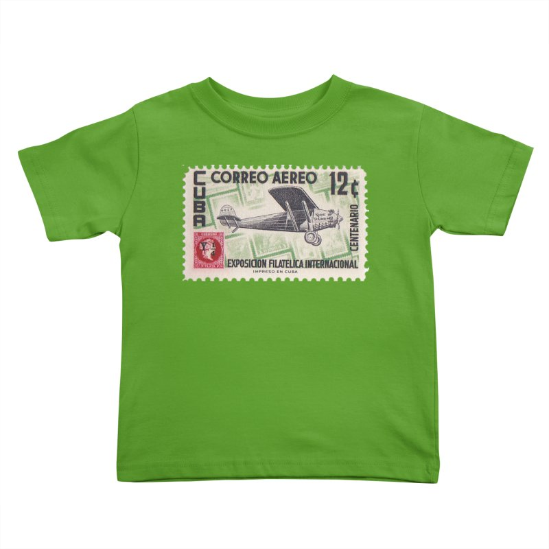 Cuba Vintage Stamp Art 1955 Kids Toddler T-Shirt by The Cuba Travel Store Artist Shop