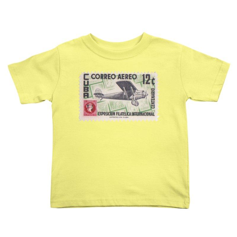 Cuba Vintage Stamp Art 1955 Kids Toddler T-Shirt by The Cuba Travel Store Artist Shop