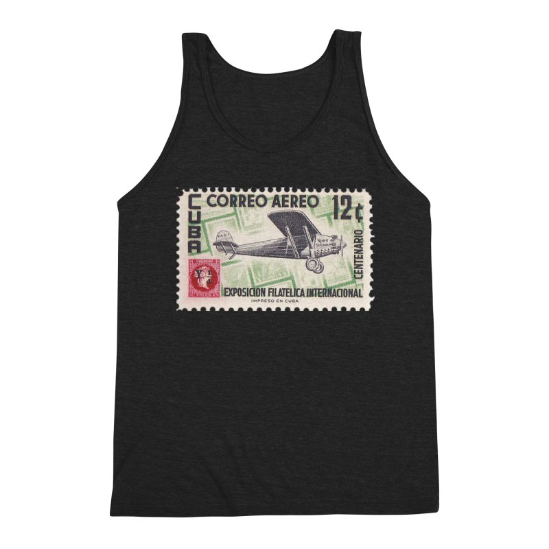Cuba Vintage Stamp Art 1955 Men's Tank by The Cuba Travel Store Artist Shop