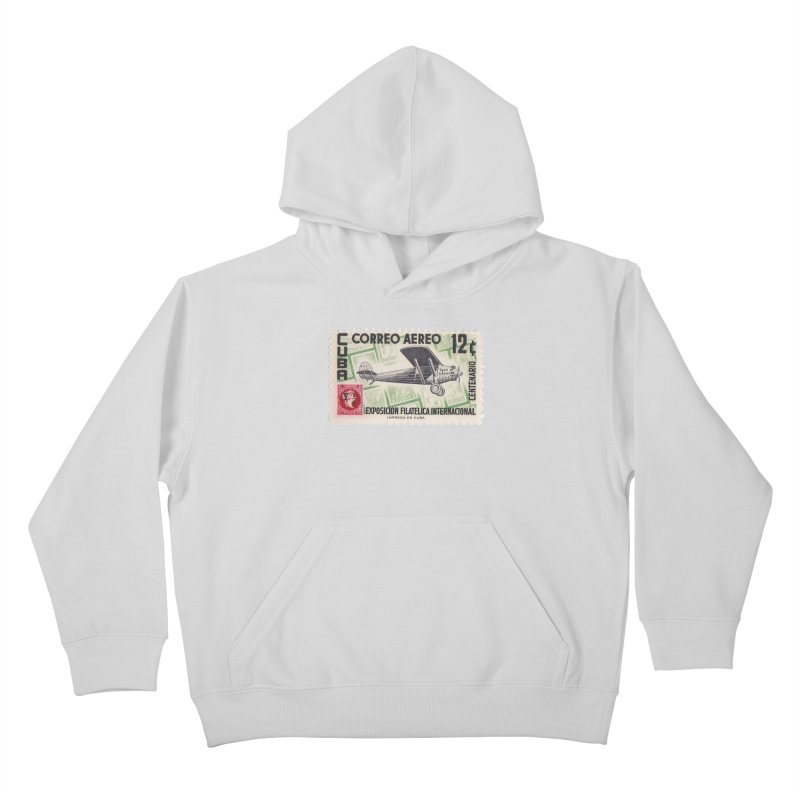 Cuba Vintage Stamp Art 1955 Kids Pullover Hoody by The Cuba Travel Store Artist Shop