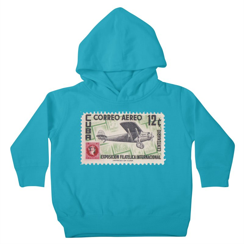 Cuba Vintage Stamp Art 1955 Kids Toddler Pullover Hoody by The Cuba Travel Store Artist Shop