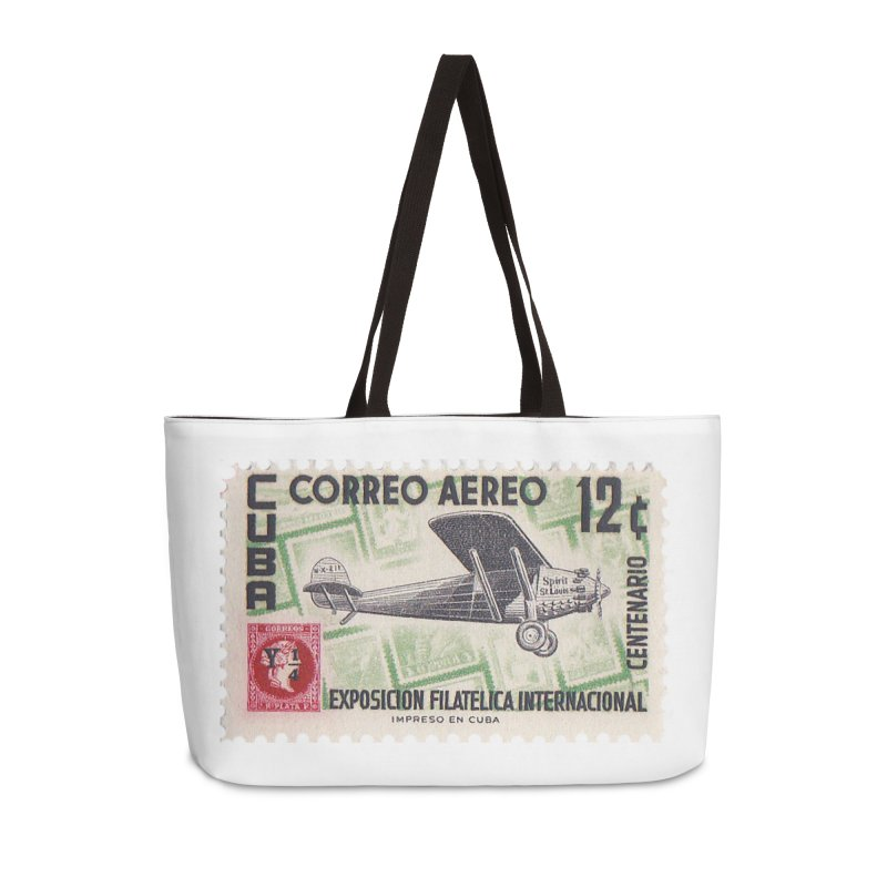 Cuba Vintage Stamp Art 1955 Accessories Weekender Bag Bag by The Cuba Travel Store Artist Shop