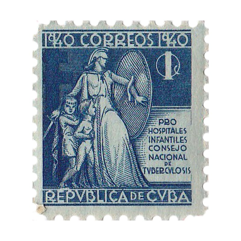 Cuba Vintage Stamp Art 1940   by The Cuba Travel Store Artist Shop
