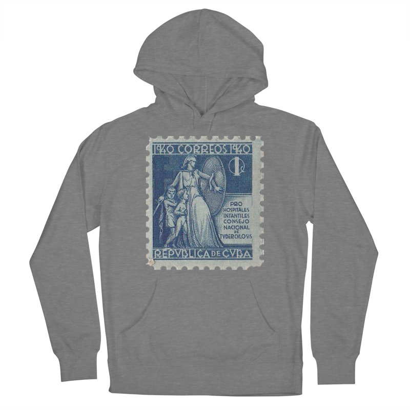 Cuba Vintage Stamp Art 1940 Women's Pullover Hoody by The Cuba Travel Store Artist Shop