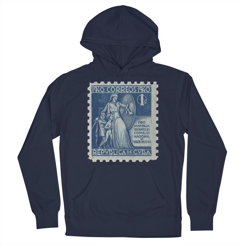 Cuba Vintage Stamp Art 1940 Men's Pullover Hoody by The Cuba Travel Store Artist Shop