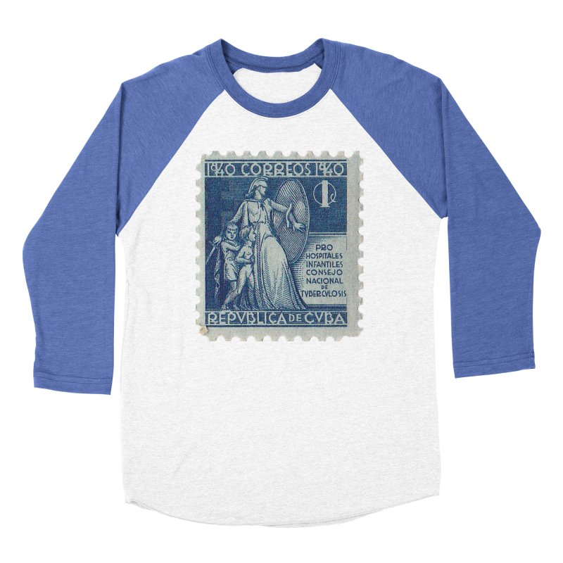 Cuba Vintage Stamp Art 1940 Women's Longsleeve T-Shirt by The Cuba Travel Store Artist Shop