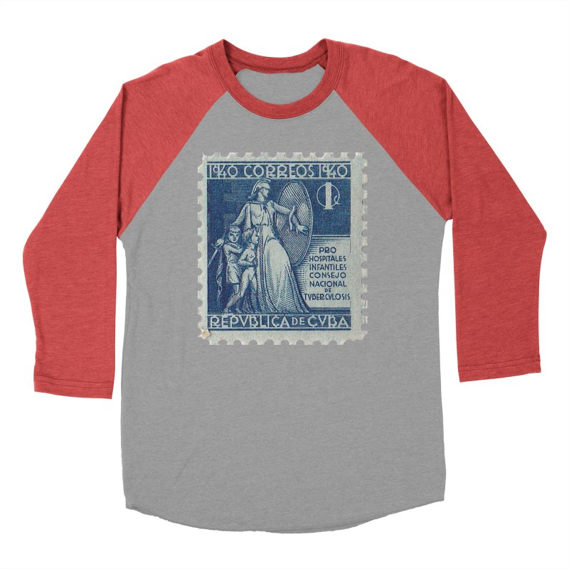 Cuba Vintage Stamp Art 1940 Men's Longsleeve T-Shirt by The Cuba Travel Store Artist Shop