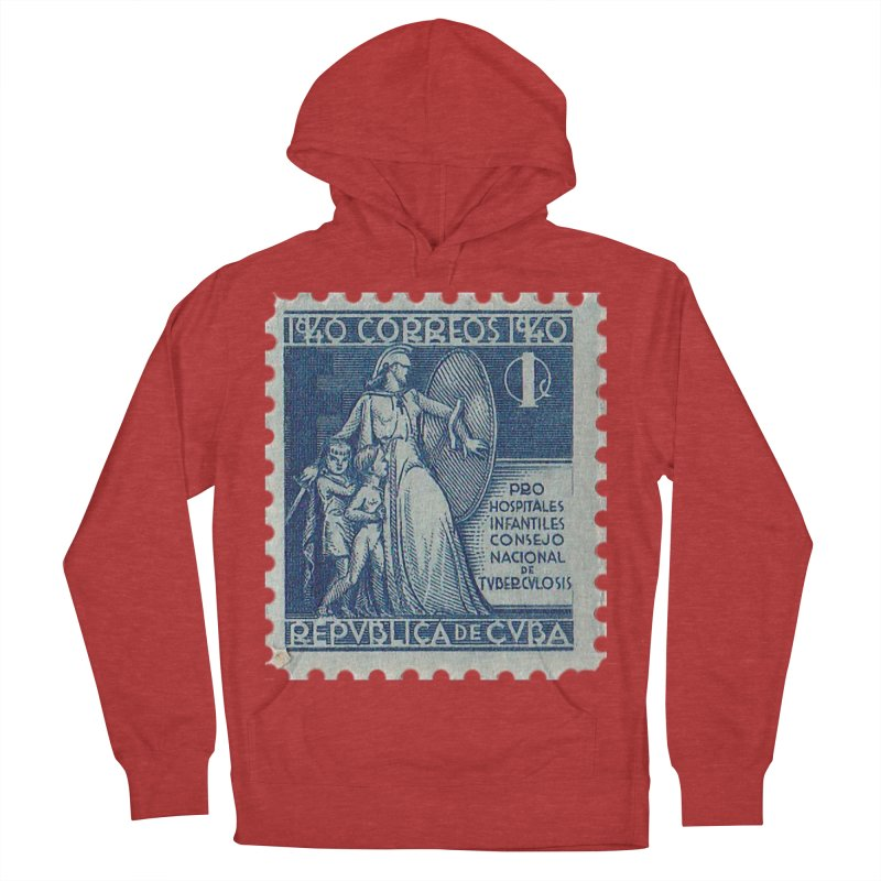 Cuba Vintage Stamp Art 1940 Women's French Terry Pullover Hoody by The Cuba Travel Store Artist Shop