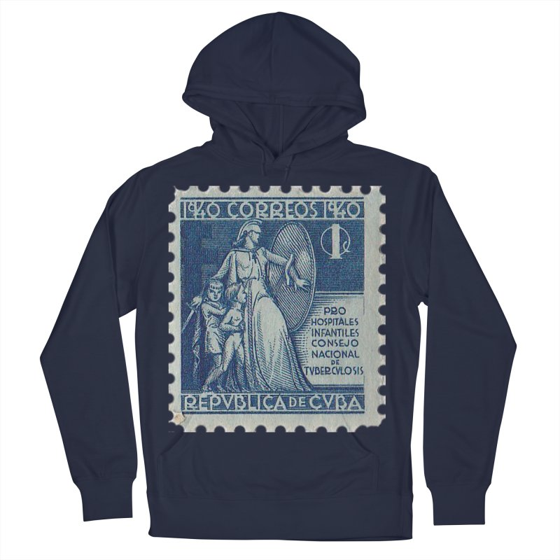 Cuba Vintage Stamp Art 1940 Men's French Terry Pullover Hoody by The Cuba Travel Store Artist Shop