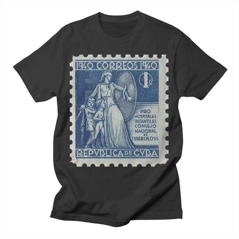 Cuba Vintage Stamp Art 1940 Men's T-Shirt by The Cuba Travel Store Artist Shop