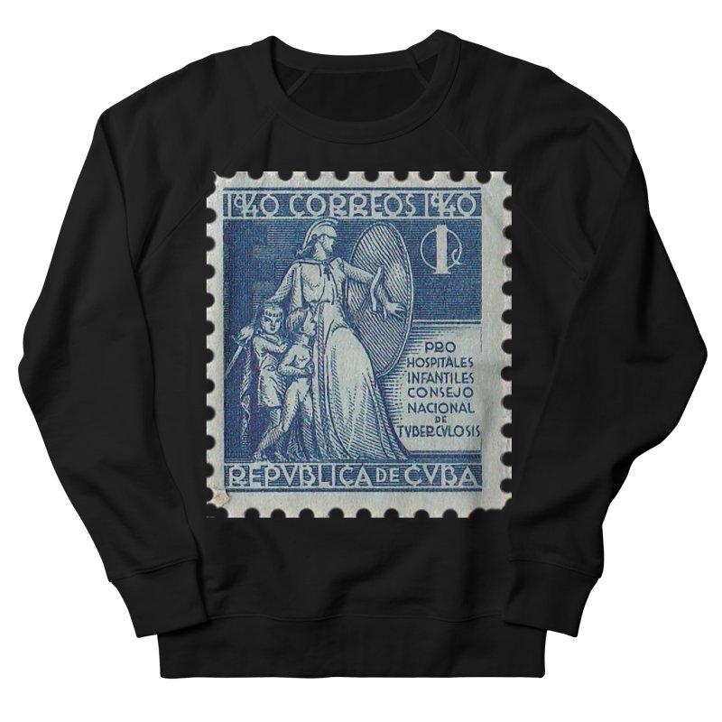 Cuba Vintage Stamp Art 1940 Men's French Terry Sweatshirt by The Cuba Travel Store Artist Shop