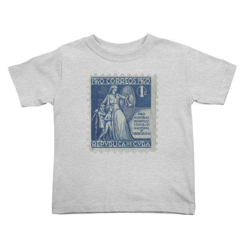 Cuba Vintage Stamp Art 1940 Kids Toddler T-Shirt by The Cuba Travel Store Artist Shop
