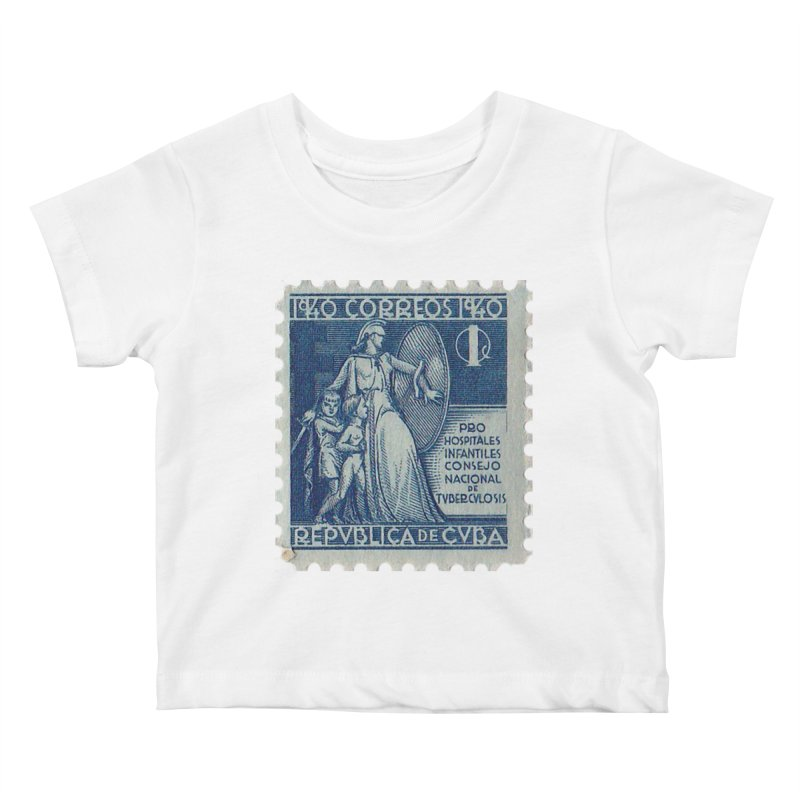 Cuba Vintage Stamp Art 1940 Kids Baby T-Shirt by The Cuba Travel Store Artist Shop