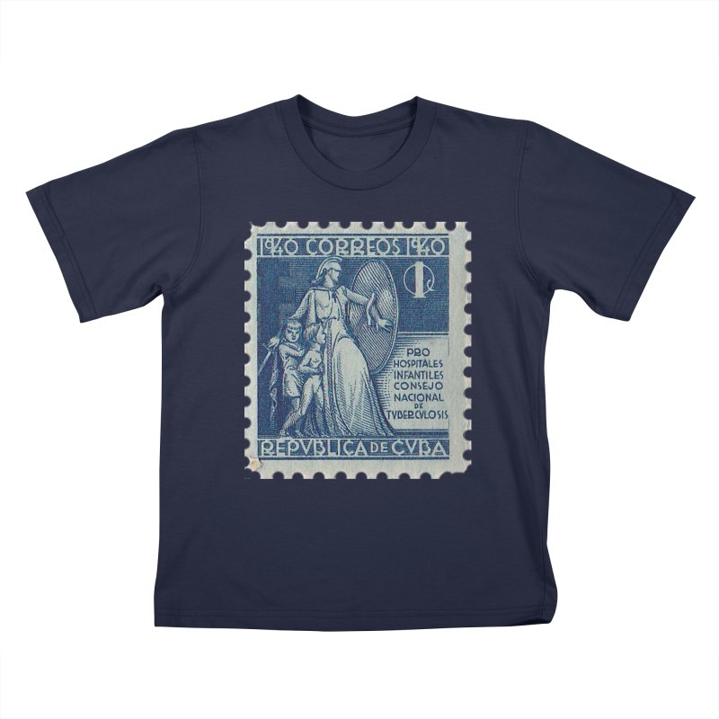 Cuba Vintage Stamp Art 1940 Kids T-Shirt by The Cuba Travel Store Artist Shop