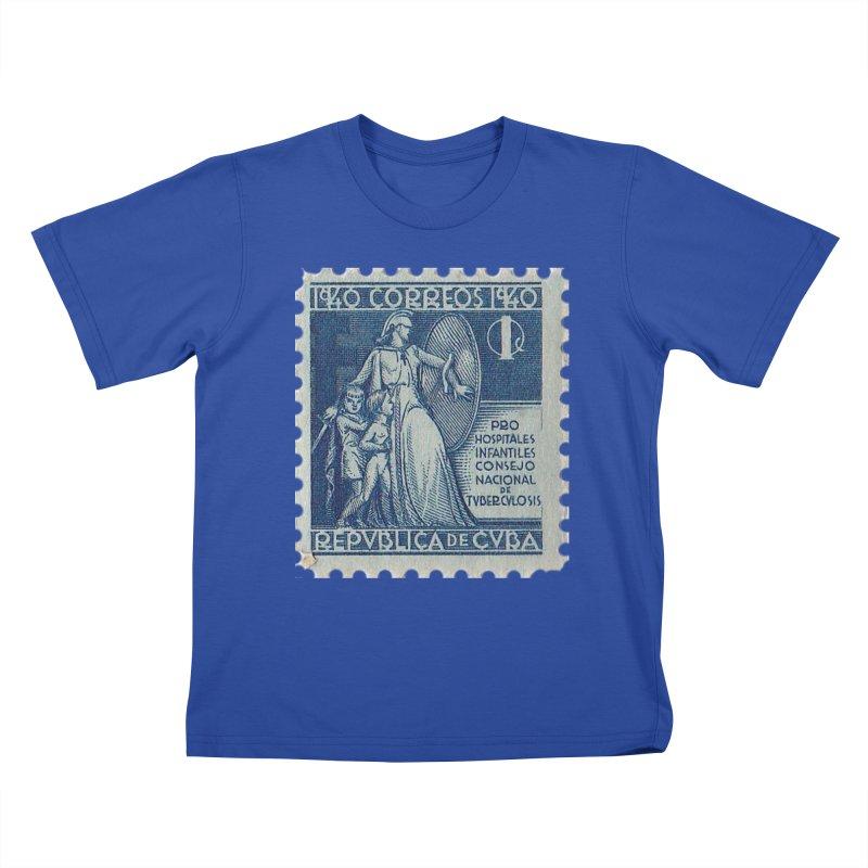 Cuba Vintage Stamp Art 1940 Kids T-Shirt by The Cuba Travel Store Artist Shop