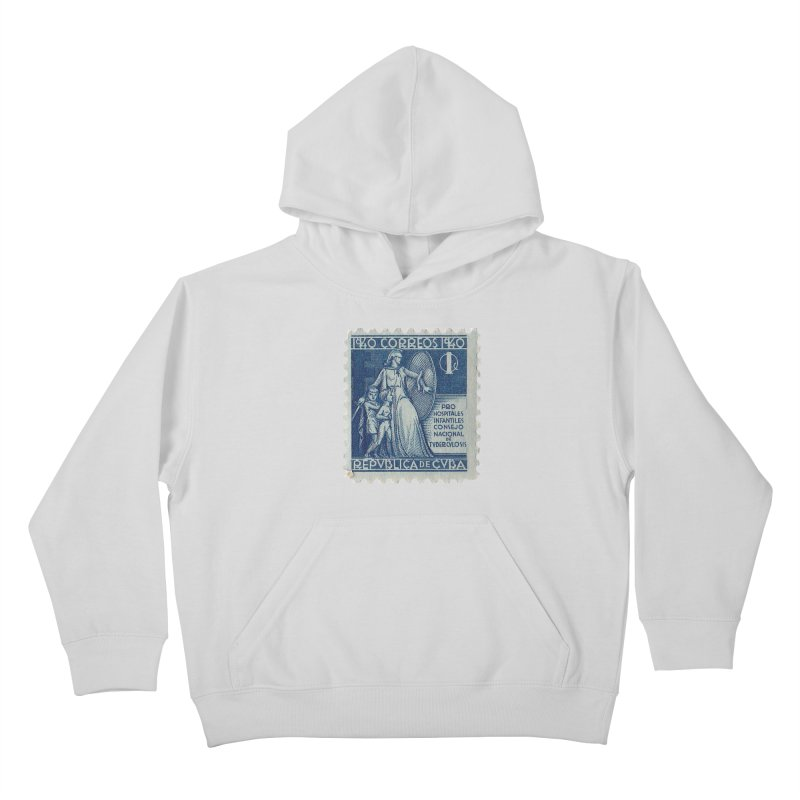 Cuba Vintage Stamp Art 1940 Kids Pullover Hoody by The Cuba Travel Store Artist Shop
