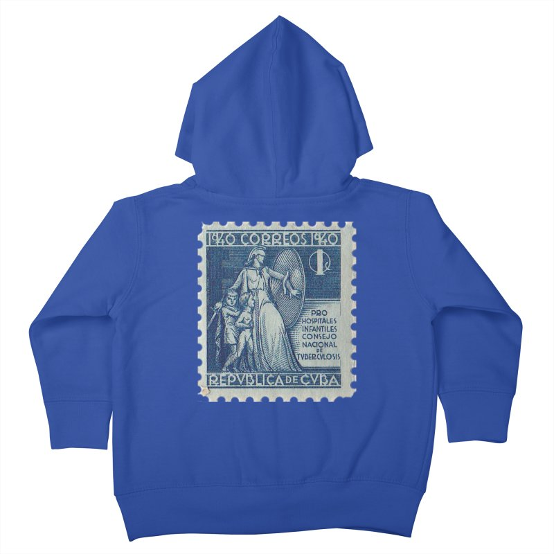 Cuba Vintage Stamp Art 1940 Kids Toddler Zip-Up Hoody by The Cuba Travel Store Artist Shop