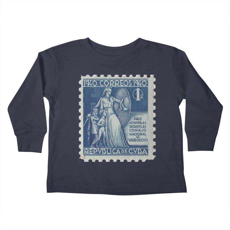 Cuba Vintage Stamp Art 1940 Kids Toddler Longsleeve T-Shirt by The Cuba Travel Store Artist Shop