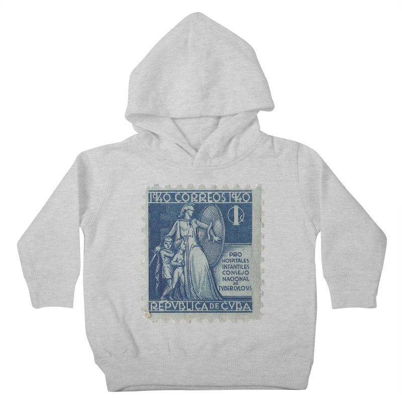 Cuba Vintage Stamp Art 1940 Kids Toddler Pullover Hoody by The Cuba Travel Store Artist Shop