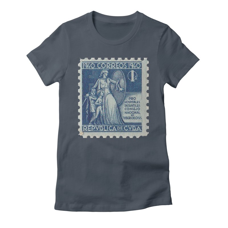 Cuba Vintage Stamp Art 1940 Women's T-Shirt by The Cuba Travel Store Artist Shop
