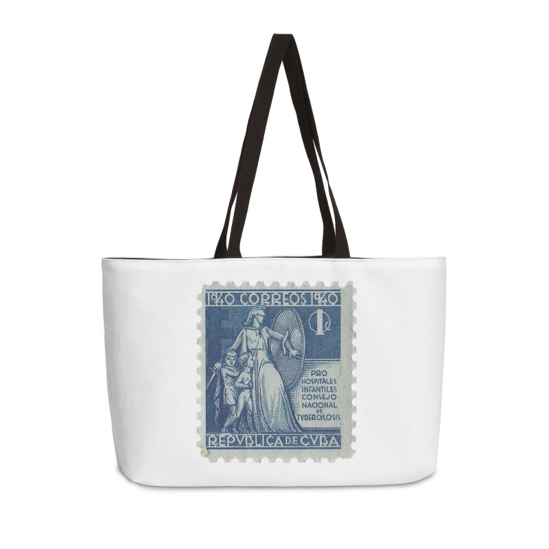 Cuba Vintage Stamp Art 1940 Accessories Weekender Bag Bag by The Cuba Travel Store Artist Shop