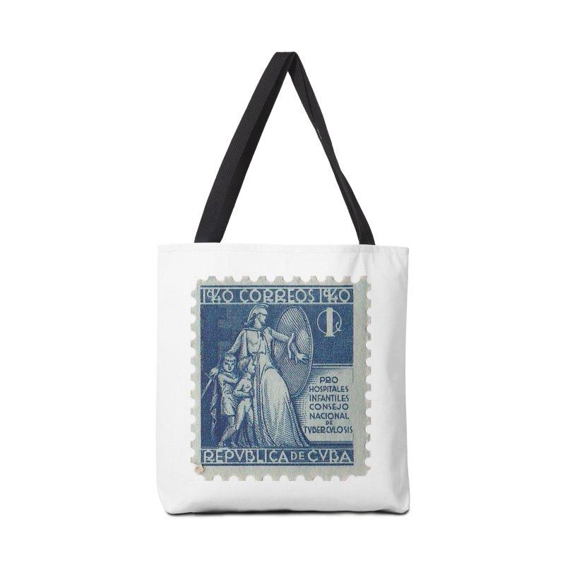 Cuba Vintage Stamp Art 1940 Accessories Bag by The Cuba Travel Store Artist Shop