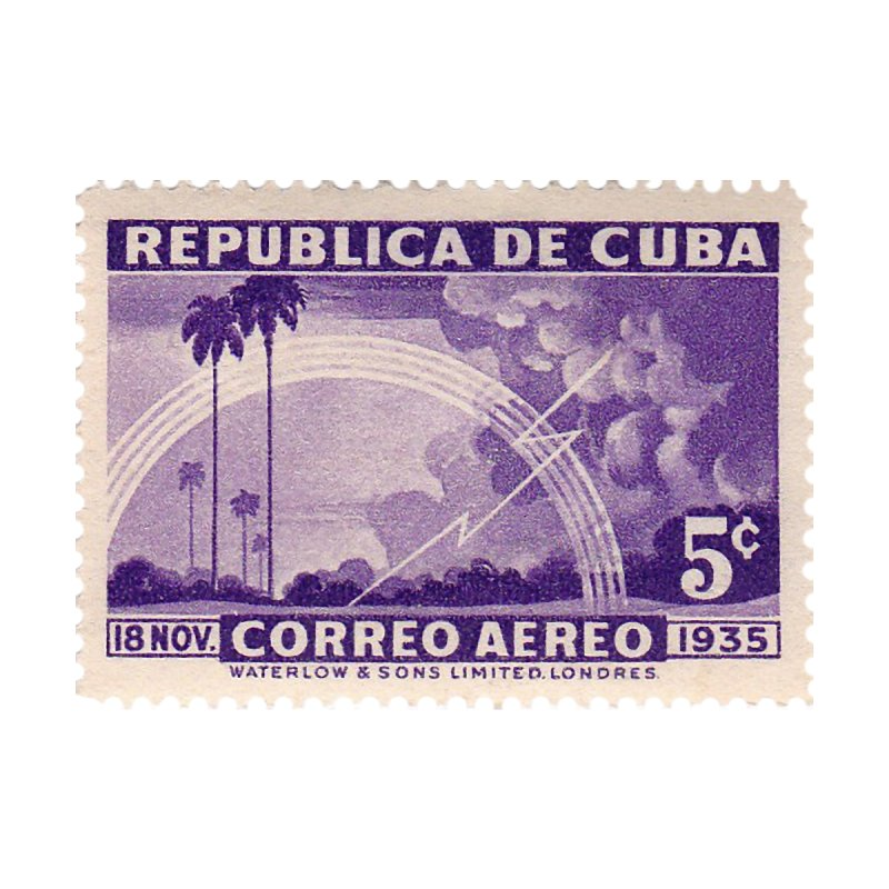 Cuba Vintage Stamp Art 1935 Home Fine Art Print by The Cuba Travel Store Artist Shop