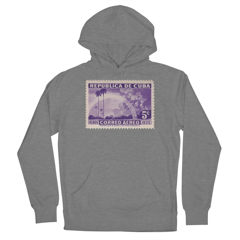 Cuba Vintage Stamp Art 1935 Women's Pullover Hoody by The Cuba Travel Store Artist Shop