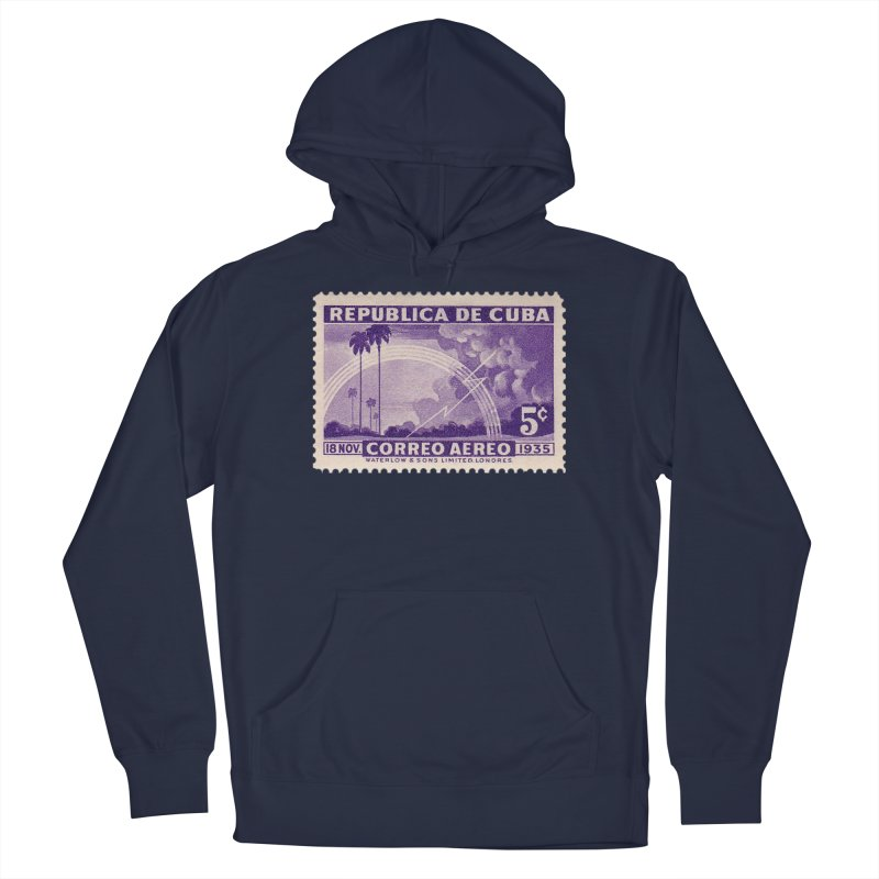 Cuba Vintage Stamp Art 1935 Men's Pullover Hoody by The Cuba Travel Store Artist Shop