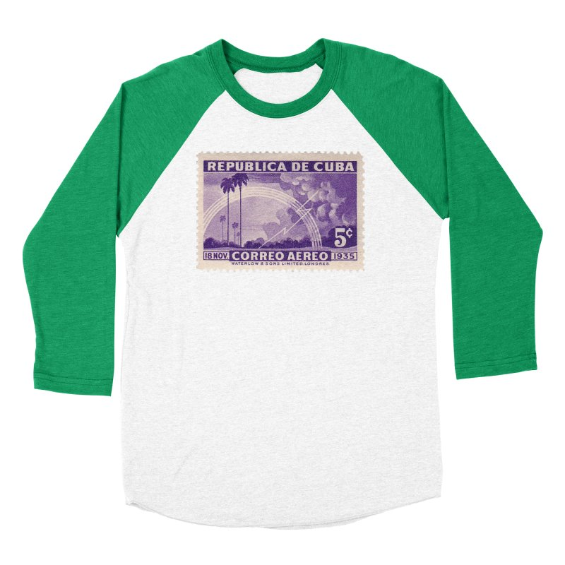 Cuba Vintage Stamp Art 1935 Women's Longsleeve T-Shirt by The Cuba Travel Store Artist Shop