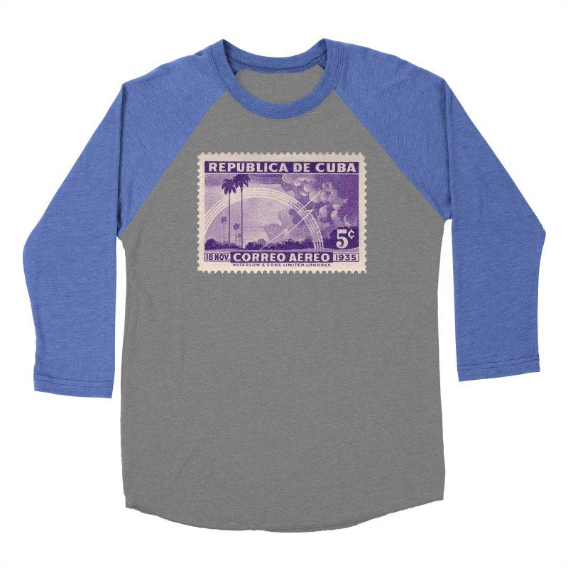 Cuba Vintage Stamp Art 1935 Women's Longsleeve T-Shirt by The Cuba Travel Store Artist Shop