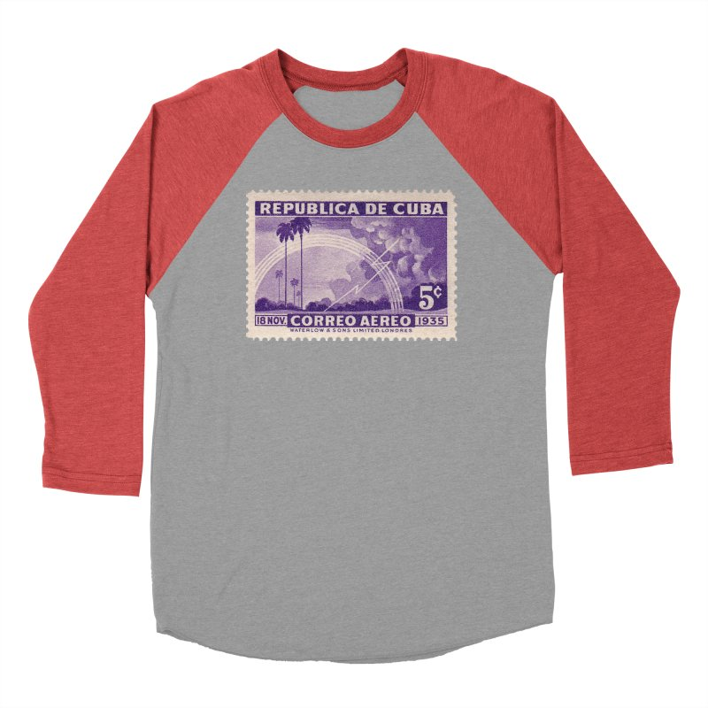 Cuba Vintage Stamp Art 1935 Men's Longsleeve T-Shirt by The Cuba Travel Store Artist Shop