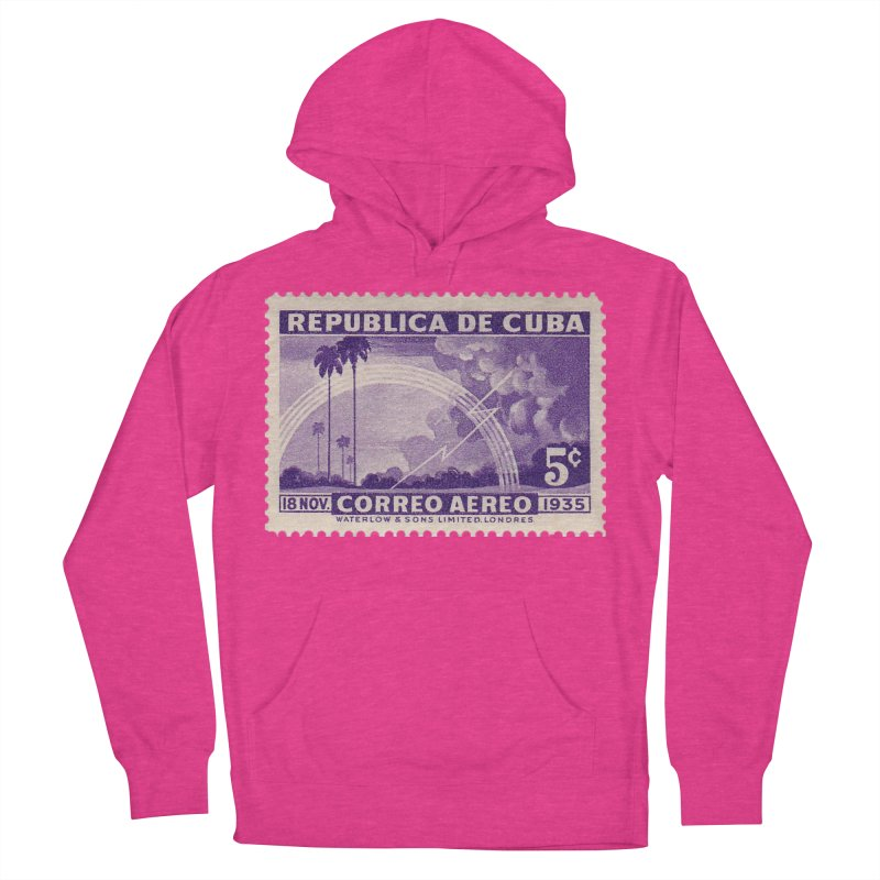 Cuba Vintage Stamp Art 1935 Women's French Terry Pullover Hoody by The Cuba Travel Store Artist Shop