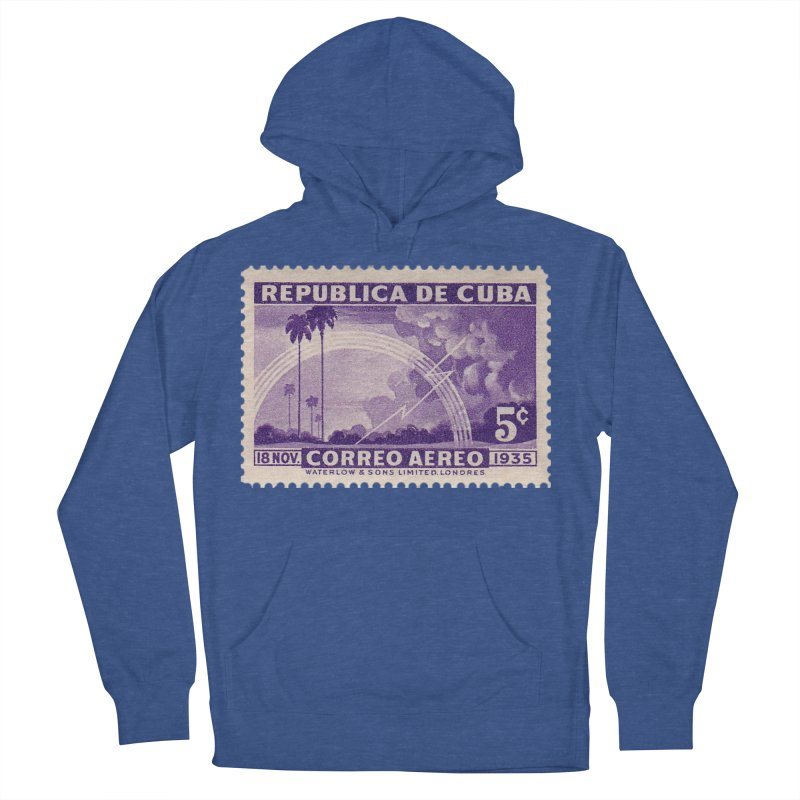 Cuba Vintage Stamp Art 1935 Men's French Terry Pullover Hoody by The Cuba Travel Store Artist Shop