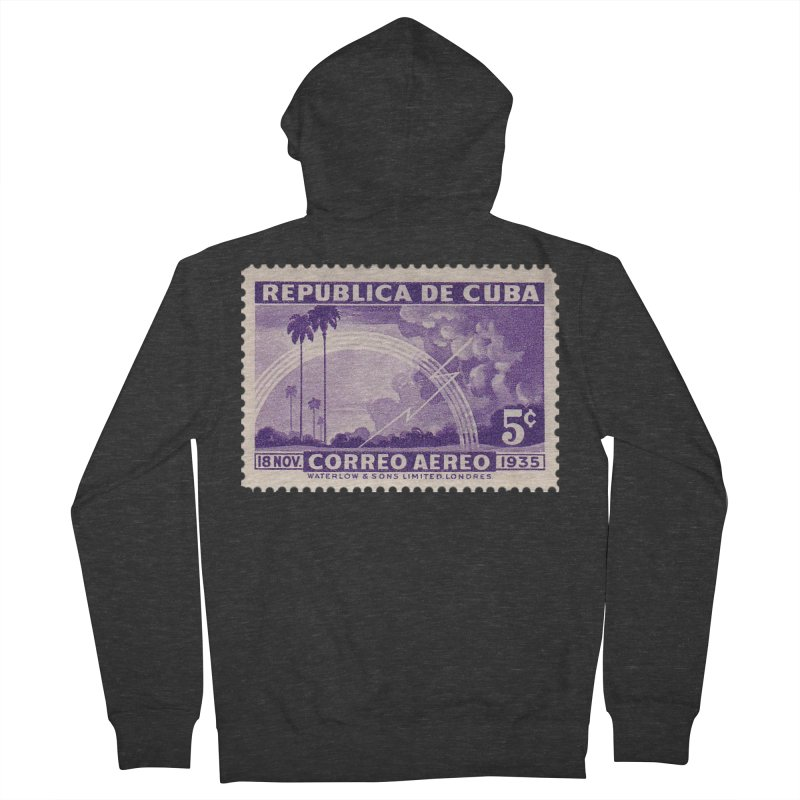 Cuba Vintage Stamp Art 1935 Women's Zip-Up Hoody by The Cuba Travel Store Artist Shop