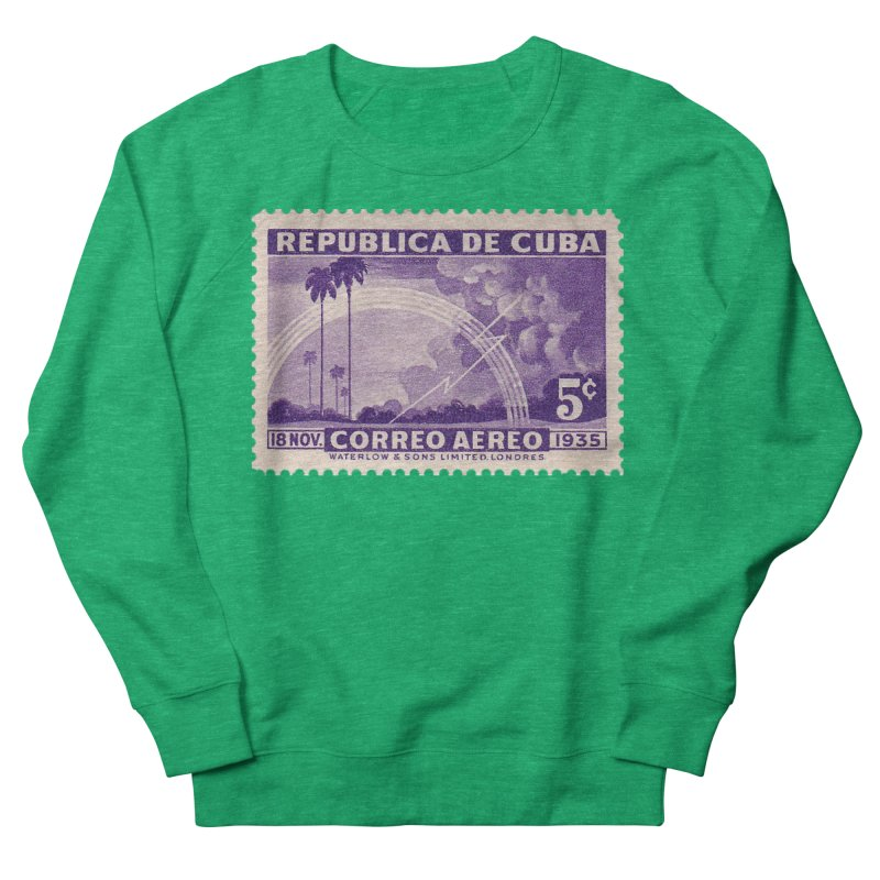 Cuba Vintage Stamp Art 1935 Men's French Terry Sweatshirt by The Cuba Travel Store Artist Shop