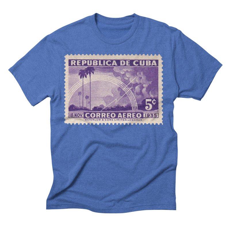 Cuba Vintage Stamp Art 1935 Men's T-Shirt by The Cuba Travel Store Artist Shop