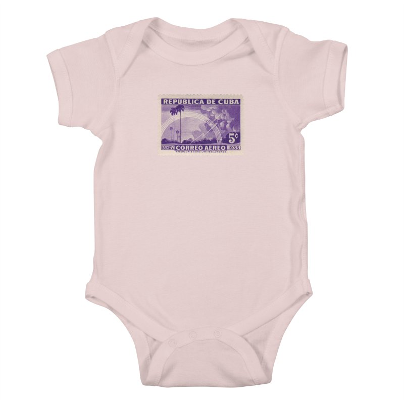 Cuba Vintage Stamp Art 1935 Kids Baby Bodysuit by The Cuba Travel Store Artist Shop