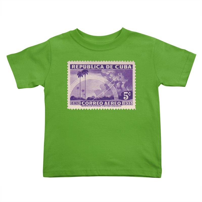 Cuba Vintage Stamp Art 1935 Kids Toddler T-Shirt by The Cuba Travel Store Artist Shop
