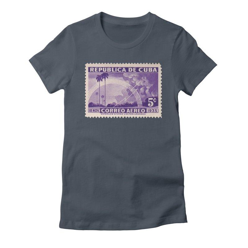 Cuba Vintage Stamp Art 1935 Women's T-Shirt by The Cuba Travel Store Artist Shop