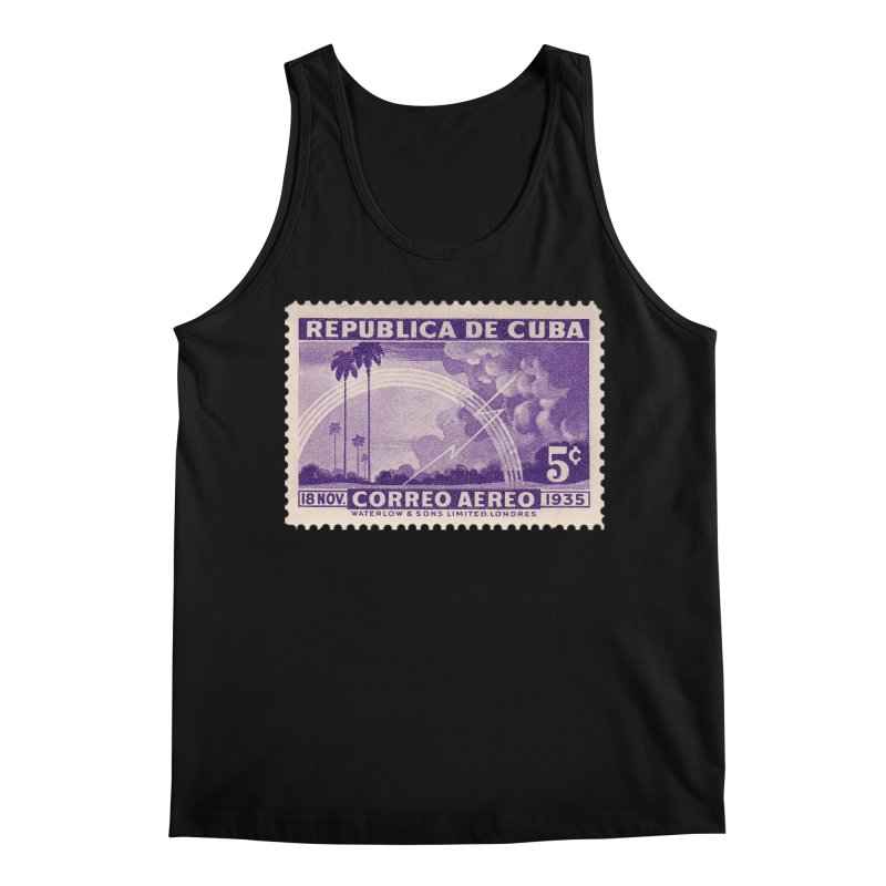 Cuba Vintage Stamp Art 1935 Men's Tank by The Cuba Travel Store Artist Shop